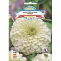 Цинния махровая Цветок Далиды белый /1 г/ *Garden Elite*