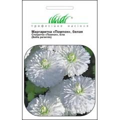 Маргаритка Помпон белая /0,01 г/ *Профессиональные семена*