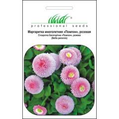 Маргаритка Помпон розовая /0,01 г/ *Профессиональные семена*