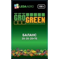 Удобрение Баланс NPK 20-20-20 /100 г/ *Gro Green*