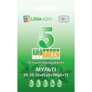 Удобрение-гель Мульти 5 NPK 20-20-20+6Ca+3MgO+TE /25 г/ *Gro Green*