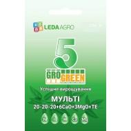Удобрение-гель Мульти 5 NPK 20-20-20+6Ca+3MgO+TE /250 г/ *Gro Green*