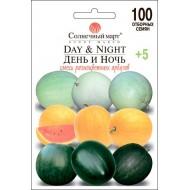 Арбуз День и ночь (смесь) /100 семян/ *Солнечный Март*