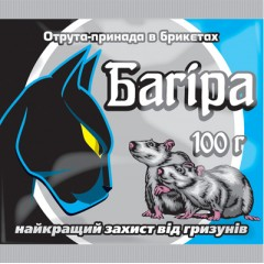 Родентицид Багира /100 г парафиновый брикет/ *Укравит*